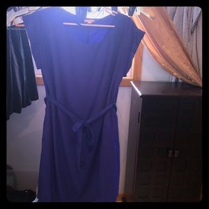 Gap blue dress with belt and pockets